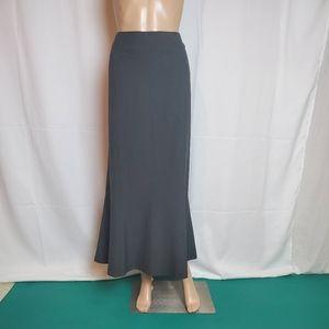 Jones New York Gray A-line Maxi Skirt size 14